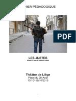Cahier pédagogique Les Justes