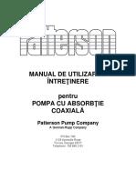 Manual Utilizare Pompa