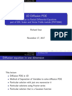 1D Diffusion PDE