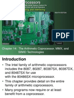 Chapter14 - THE ARITHMETIC COPROCESSOR, MMX, AND SIMD TECHNOLOGIES.ppt