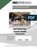 Prueba Diagnóstica Del Área de Matemática_ 4