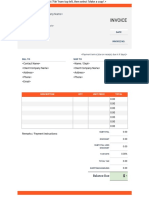 Invoice Template Doc Top