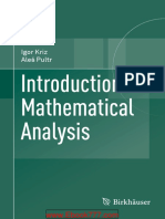 Introduction to Mathematical Analysis-Igor Kriz