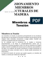 Diseño Elementos de Madera (Tension y Vigas en Flexion)-1