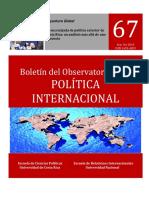 Boletín del Observatorio de la Política Internacional