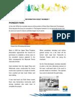 Heritage Info Sheet 1 Pioneer Park