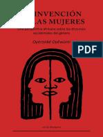 Oyěwùmí, Oyèronké - La invención de las mujeres.pdf