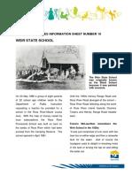 Heritage Info Sheet 19 Weir State School