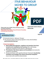 Cognitive Behavioral Therapy (Group Counselling)