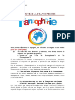 Devoir Francophonie