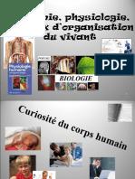 Anatomie, Physiologie, Niveaux d'Organisation Du Vivant