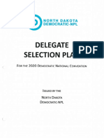 North Dakota Democratic Nonpartisan League 2020 **DRAFT** Delegate Selection Plan