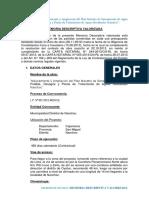 Modelo de Memoria Descriptiva Valorizada en Liquidacion de Obra