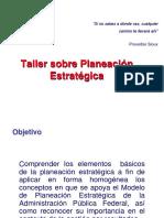 Taller Sobre Planeacion Estrategica