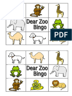 Zoo Bingo Color