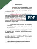 Administração Pública - Resumo Ufpi