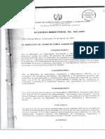 Acuerdo Ministerial No. 502-2005