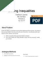 algebra presentation