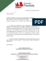 CMA Paulista Oficio Nº 31.2019