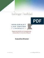Executive Position Profile ILCM Executive Director