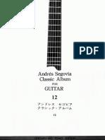 A.segovia - Classic Album for Guitar Vol.12 - Ongaku No Tomo Edition