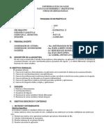 Programa Mat 315 2019