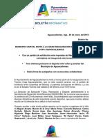 Boletín 3 Copa Aguascalientes