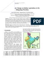 Impact of Climate Change on Indian Agriculture & Its Mitigating Priorities