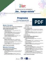 Programa Coloquio 12 y 13 de Marzo