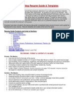 Resume Guide College of Engineering Graduate