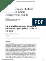 La Gramática Escolar Española Entre Dos Siglos (1780-1813)_ La Sintaxis