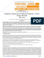 Child care at work place - employee retention