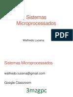 Aula 1 - Apresentação - Sistemas Microprocessados
