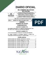 Diario Oficial delGobierno del Estado de Yucatán del 23 de abril de 2007
