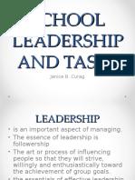 SCHOOL LEADERSHIP AND TASKS.ppt