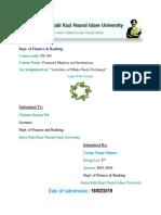 Assignment on Activities of Dhaka Stock Exchange