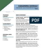 cassies professional resume