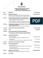 Alabama Possible Summit Agenda