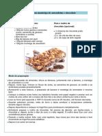Barras de Aveia Com Manteiga de Amendoim e Chocolate