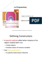 Java Objects and Methods
