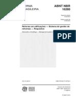 NBR 16280 - Reforma Em Edificações 2015 v2