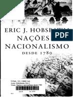 A Nação Como Novidade (Nações e Nacionalismo, Eric Hobsbawm)
