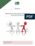 Naturaleza Estructura y Valorizacion de La Accion Moral