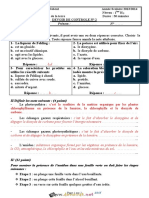 Devoir Corrigé de Contrôle N°2 - SVT - 1ère AS (2013-2014) Mr Mzid Mourad
