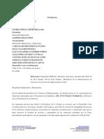 Carta del Presidente de la Cámara a la Corte Constitucional sobre objeciones del Presidente