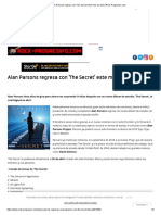 Alan Parsons Regresa Con 'the Secret' Este Mes de Abril _ Rock-Progresivo.com