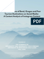 Representations of Bend, Oregon and Peer Tourism Destinations in Social Media_ a Content Analysis of Instagram Content