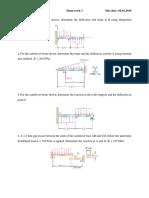 Mechanics of Materials Examples Homework