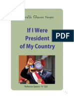 IF I WERE PRESIDENT OF MY COUNTRY