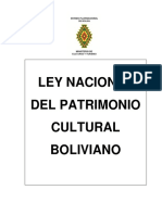 LEY  NACIONAL DE PATRIMONIO CULTURAL BOLIVIANO PARA EL TALLER DE SOCIALIZACION 13.11.13.pdf